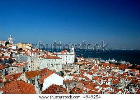 Panorama view from Oporto City in Lisboa