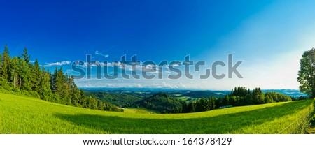 panorama view landscape - stock photo