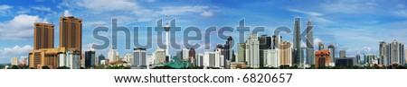 Panorama View of Kuala Lumpur - stock photo