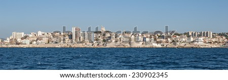Panorama view of Marseille in South France - stock photo