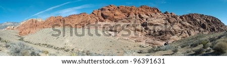 panorama view on the red rock mountains in Arizona - stock photo