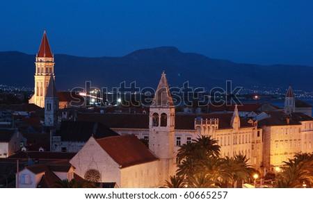 Panorama view Trogir city Croatia - stock photo