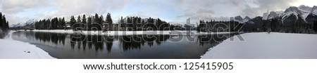 Panoramic - Canmore Christmas 2 - stock photo