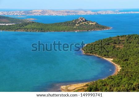 Panoramic coast view , Ayvalik, Turkey  - stock photo