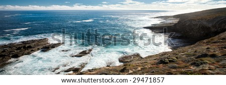 Panoramic Coastline View - stock photo