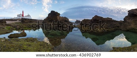 Panoramic image of Cape Raso and lighthouse - Cascais - Portugal