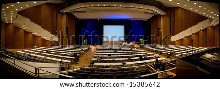 Panoramic image of the Kulture Palast in Dresden - stock photo