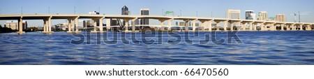 Panoramic Jacksonville, Florida. Afternoon time. - stock photo