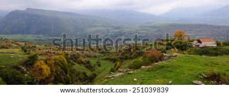 Panoramic landscape - stock photo
