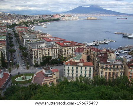 Panoramic of Naples in Italy