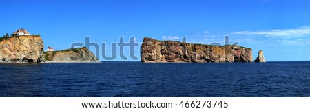 Beautiful View Rocher Perce Perce City Stock Photo 465382499