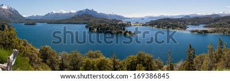 Panoramic picture of Bariloche - stock photo