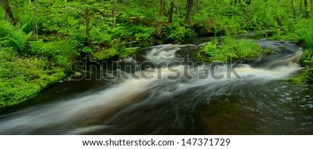Panoramic Shoot of Wolf Creek, Banning State Park in Minnesota - stock photo