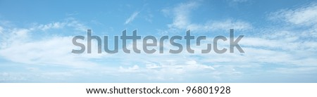 Panoramic shot of a beautiful cloudy sky - stock photo