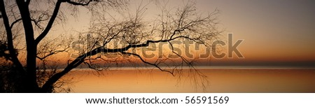Panoramic Sunset - stock photo