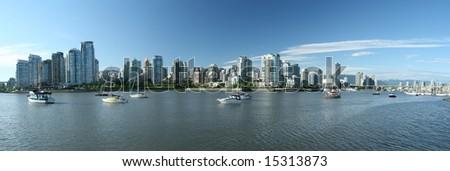 Panoramic Vancouver Waterfront Views - stock photo