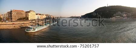 Panoramic view at Budapest, Hungary - stock photo