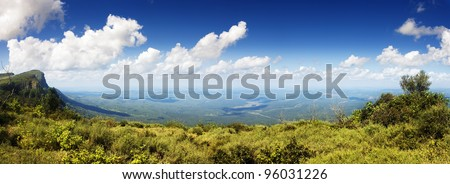 Panoramic view from God's Window - Blyde river Canyon - Mpumalanga - South Africa - stock photo