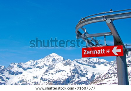 Panoramic view from Matterhorn, Zermatt, Switzerland - stock photo