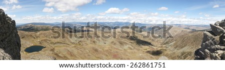 Panoramic view in Picos de Urbion. Source of Duero. Soria, Spain - stock photo