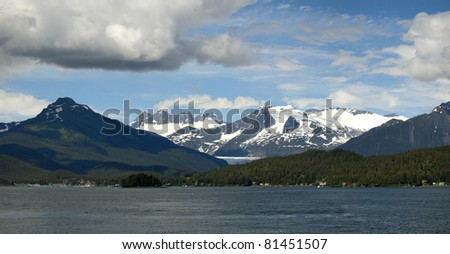 Panoramic view of Alaska - stock photo