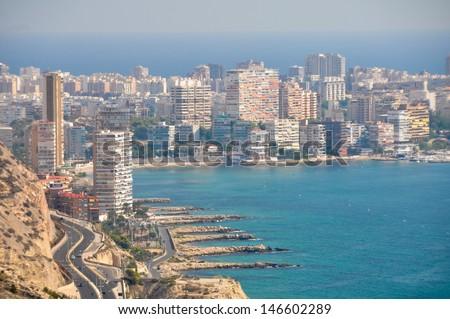 Panoramic view of Alicante (Spain) - stock photo