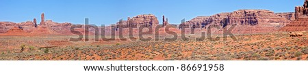 Panoramic view of American Southwest. - stock photo
