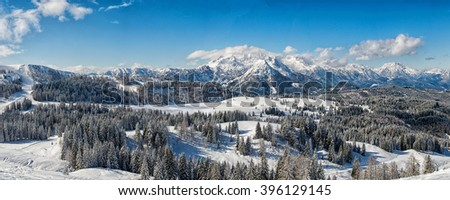 Panoramic view of Austrian Alps (Dachstein Area)