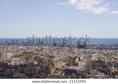 Panoramic view of barcelona2
