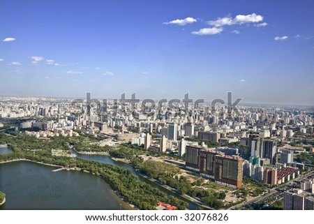 panoramic view of beijing china