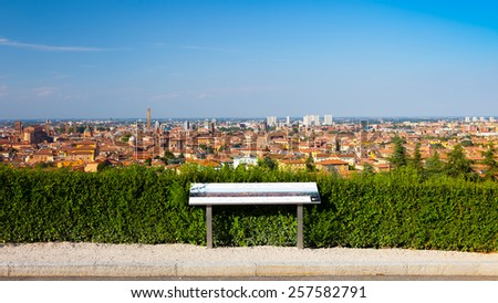 panoramic view of bologna - stock photo