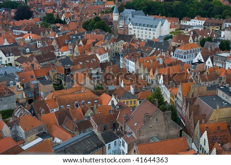 Panoramic view of Bruges, Belgium