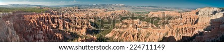 Panoramic view of Bryce Canyon National Park, Utah, USA - stock photo