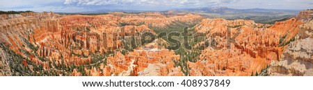 Panoramic view of Bryce Point. Bryce National Park, Utah, USA