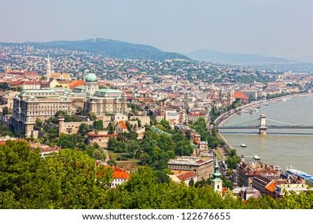 Panoramic view of Budapest - stock photo