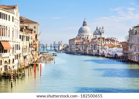 Panoramic view of Canal Grande  in Venice, Italy - stock photo