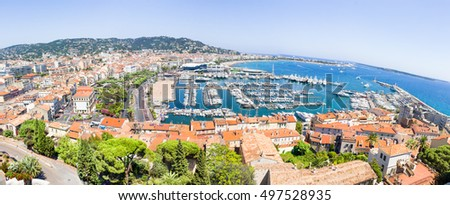 Panoramic view of Cannes, south of France