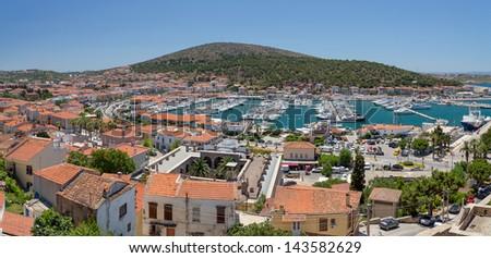 Panoramic view of Cesme, Turkey - stock photo