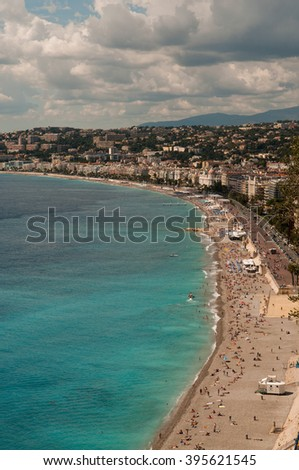 Panoramic view of Cote d'Azur-Nice France