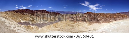 panoramic view of death valley from Zabriskie Point