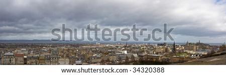Panoramic View of Edinburgh - Scotland - stock photo