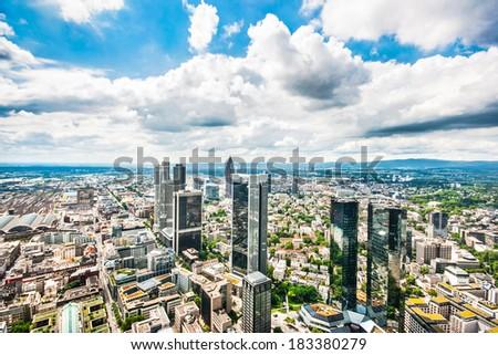 Panoramic view of Frankfurt am Main, Germany - stock photo