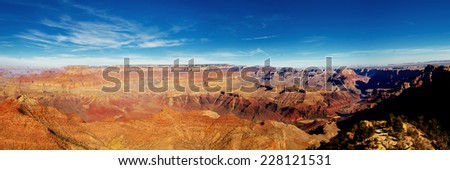 Panoramic view of Grand Canyon, Arizona, USA. Seen from Desert view point. - stock photo