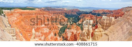 Panoramic view of Inspiration Point. Bryce National Park, Utah, USA
