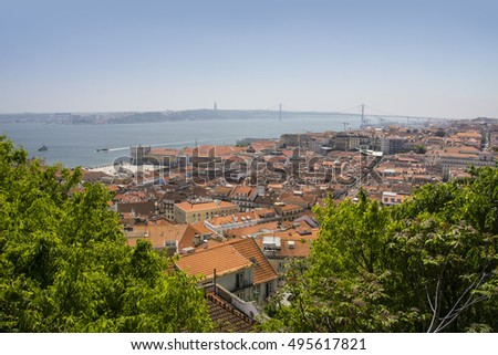 Panoramic view of Lisbon, Portugal, Europe