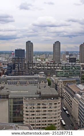 Panoramic view of London from the top. - stock photo
