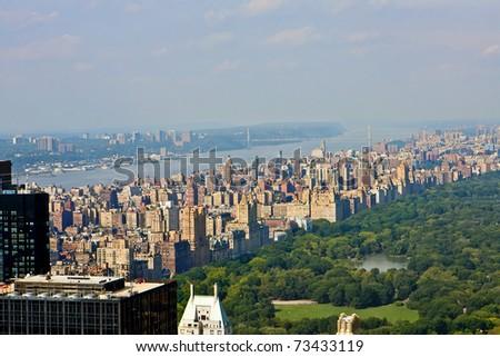 Panoramic view of Manhattan. New York City - stock photo