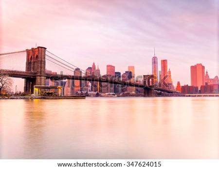 Panoramic view of Manhattan, New York City. USA. - stock photo