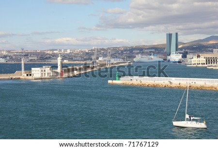 Panoramic view of Marseille, France - stock photo