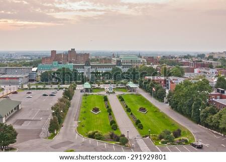 Panoramic view of Montreal from Saint Joseph's Oratory - stock photo